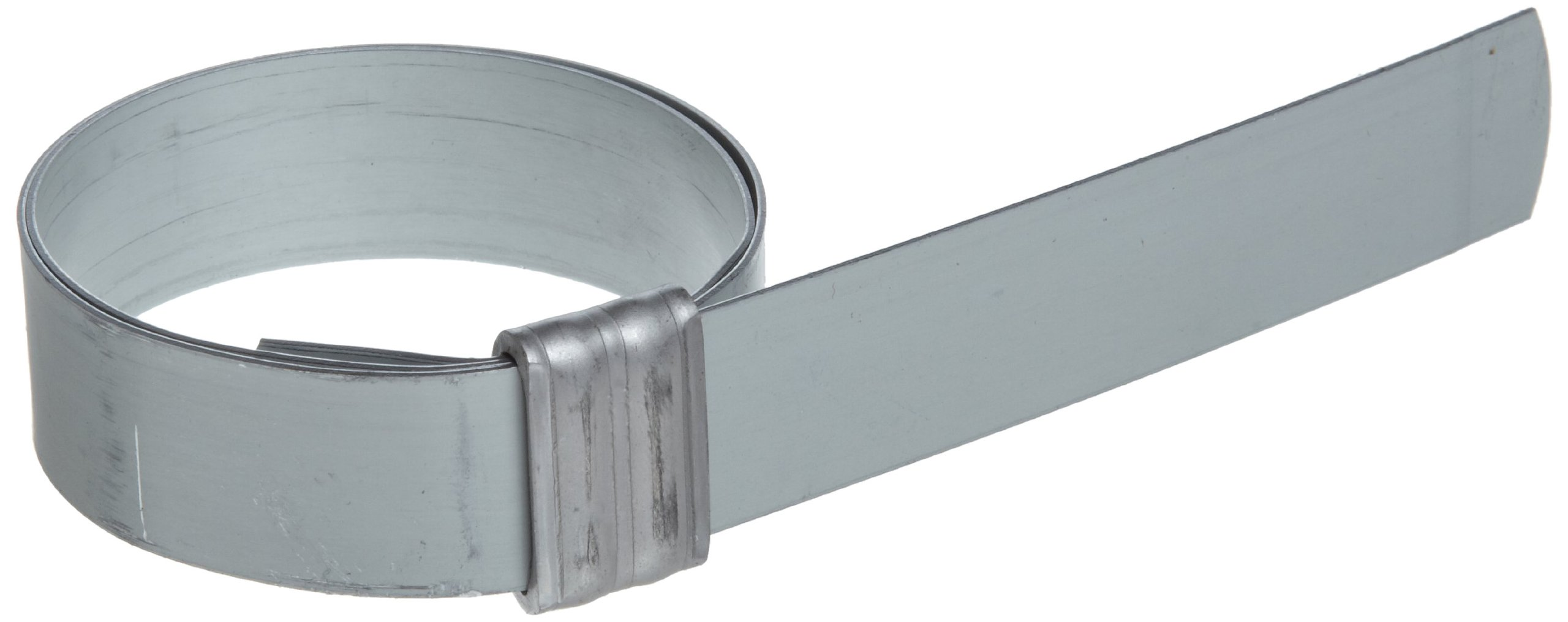 BAND-IT JS3279 Junior 3/4'' Wide x 0.030'' Thick, 2'' Diameter, Galvanized Carbon Steel Smooth I.D. Clamp (100 Per Box)