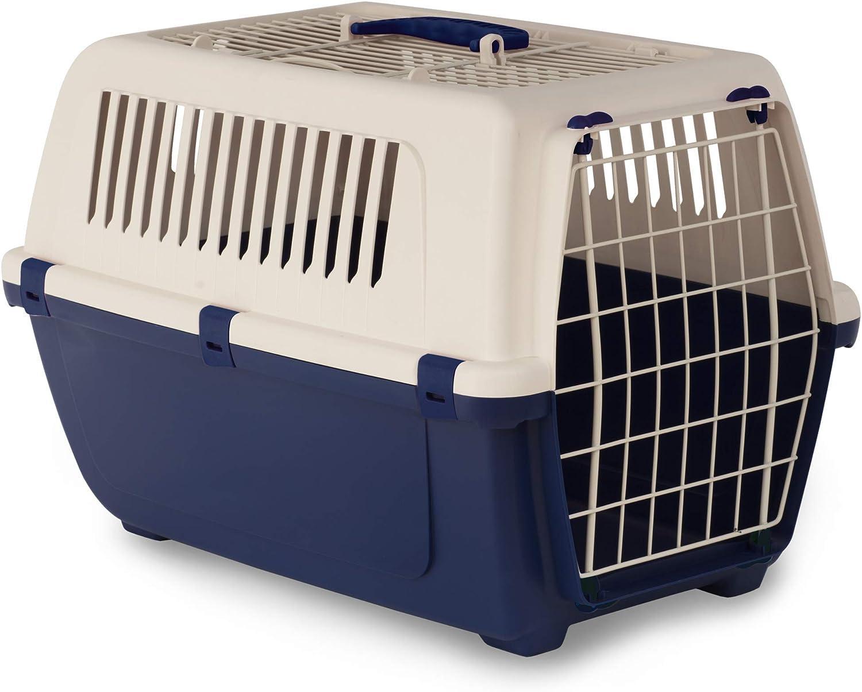 Rosewood Vision Free - Portabrocas para Gatos y Mascotas (2 Puertas, 55 cm), Color Azul