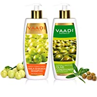 Amla with Shikakai & Reetha Shampoo and Olive Conditioner Hair Fall & Damage Control Shampoo- Each Pack of 350ml - Each…