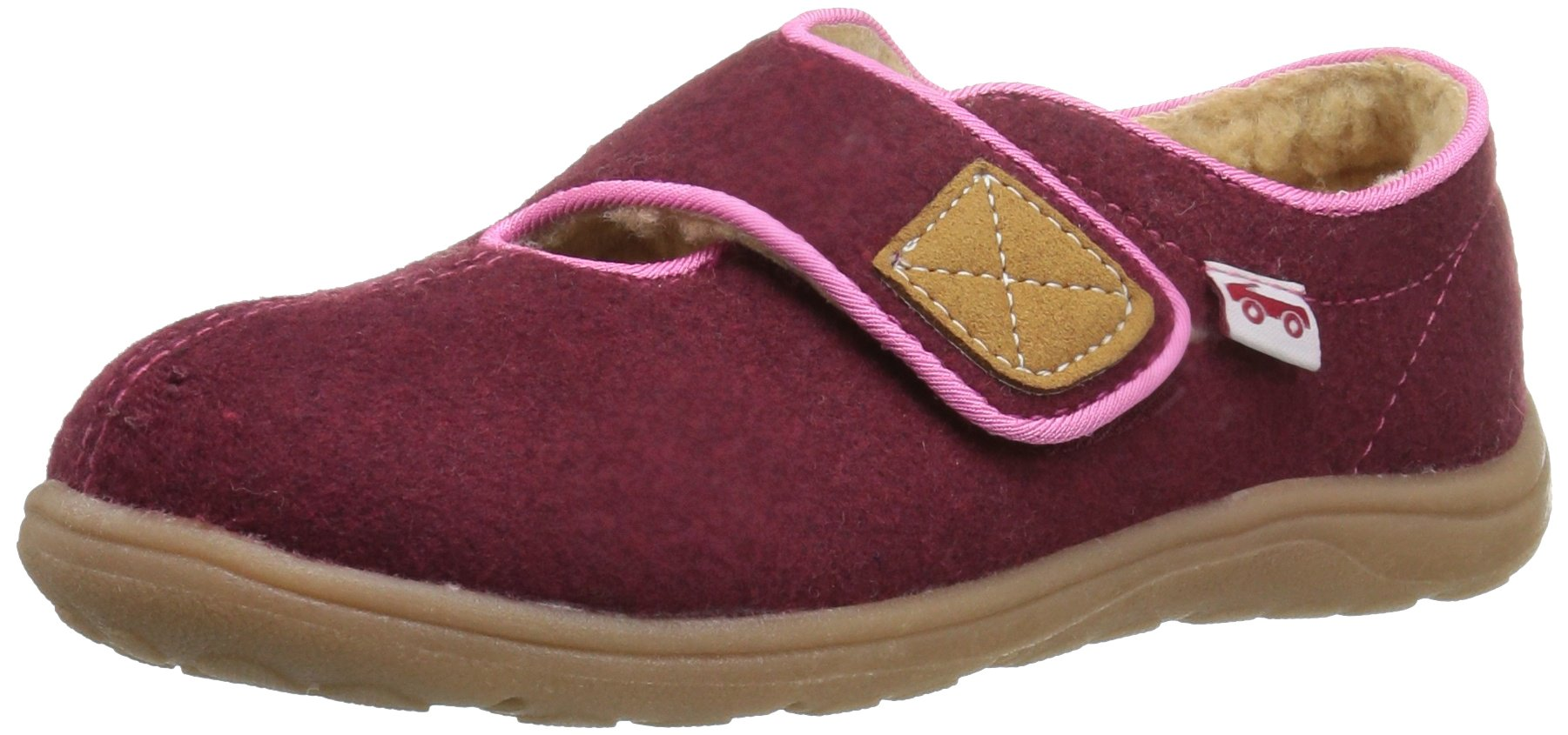 See Kai Run Girls' Cruz Shearling Slipper, Berry, 7 M US Toddler