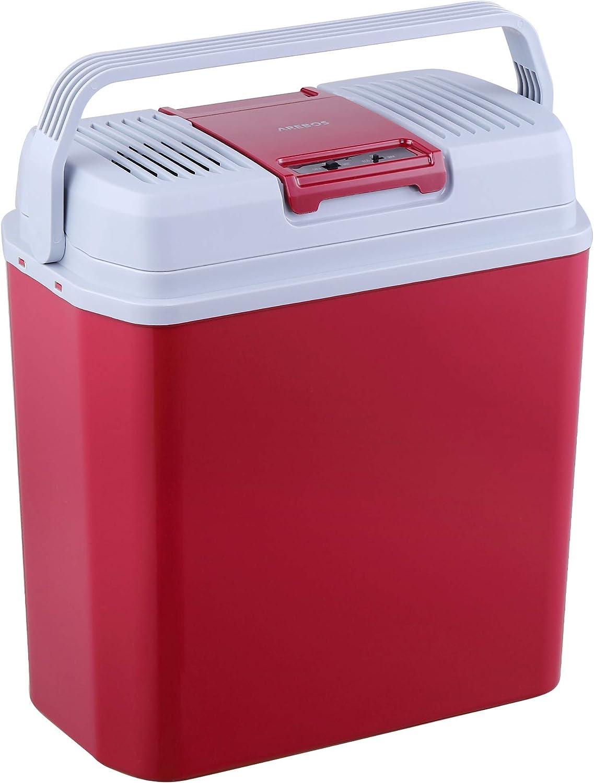 Arebos 24 Liter Kühlbox Zum Kühlen Und Warmhalten Mit Eco Modus 12 230 V Für Auto Und Steckdose Eek A Auto