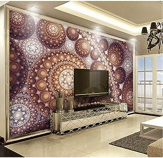 BIZHIGE Wall Art Decal Abstract Sfera 3D Photo Wallpaper Murale per Soggiorno TV Sfondo 3D Adesivo Murale Adesivo Murale,140 X 75Cm (4.5X2.4 Ft - Can Be Customized