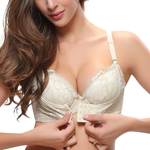 2a53a9b7601ff Women Bra Front Closure Push Up Bra Adjustable Underwear Super Thick Bra  (32 70