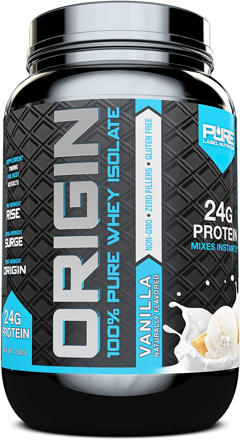 Whey Protein Isolate, Cold Processed Undenatured, Keto Friendly Whey Protein Powder, Non GMO, Gluten Free, Lactose Free, Sugar Free, 2 pounds Vanilla