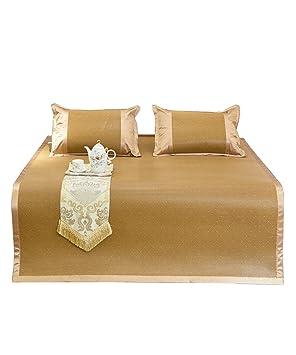 Doble Cara Uso Cama-Mat - Bambú Verano Esteras para Dormir Casa Alto Grado Respirable