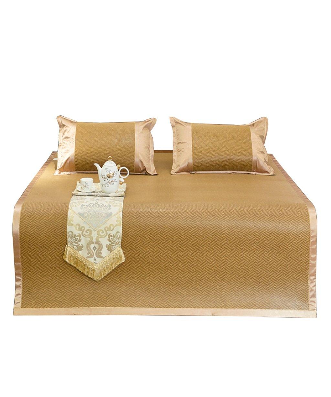 Doppelseitige Gebrauchsbett-Matte - Bambus Sommer Schlafmatten Haushalt Atmungsaktiv Faltbar Matten - natürlicher Bambus und Rattan Klappbett-Matte (größe : 1.5  1.95m)