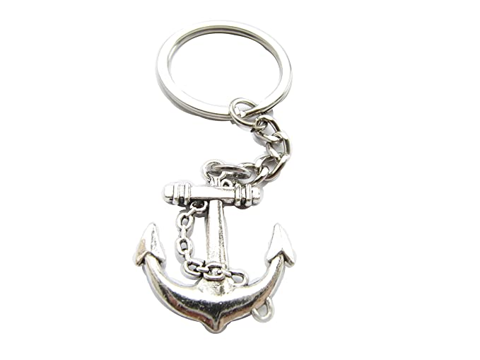 Amazon.com : Nautical Anchor Keychain, Sailor Keychain ...