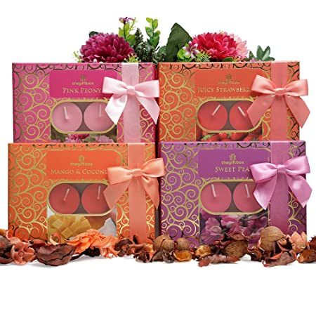 Mum Birthday Gifts Scented Tealight Candles Gift Set. Containing 48 ...