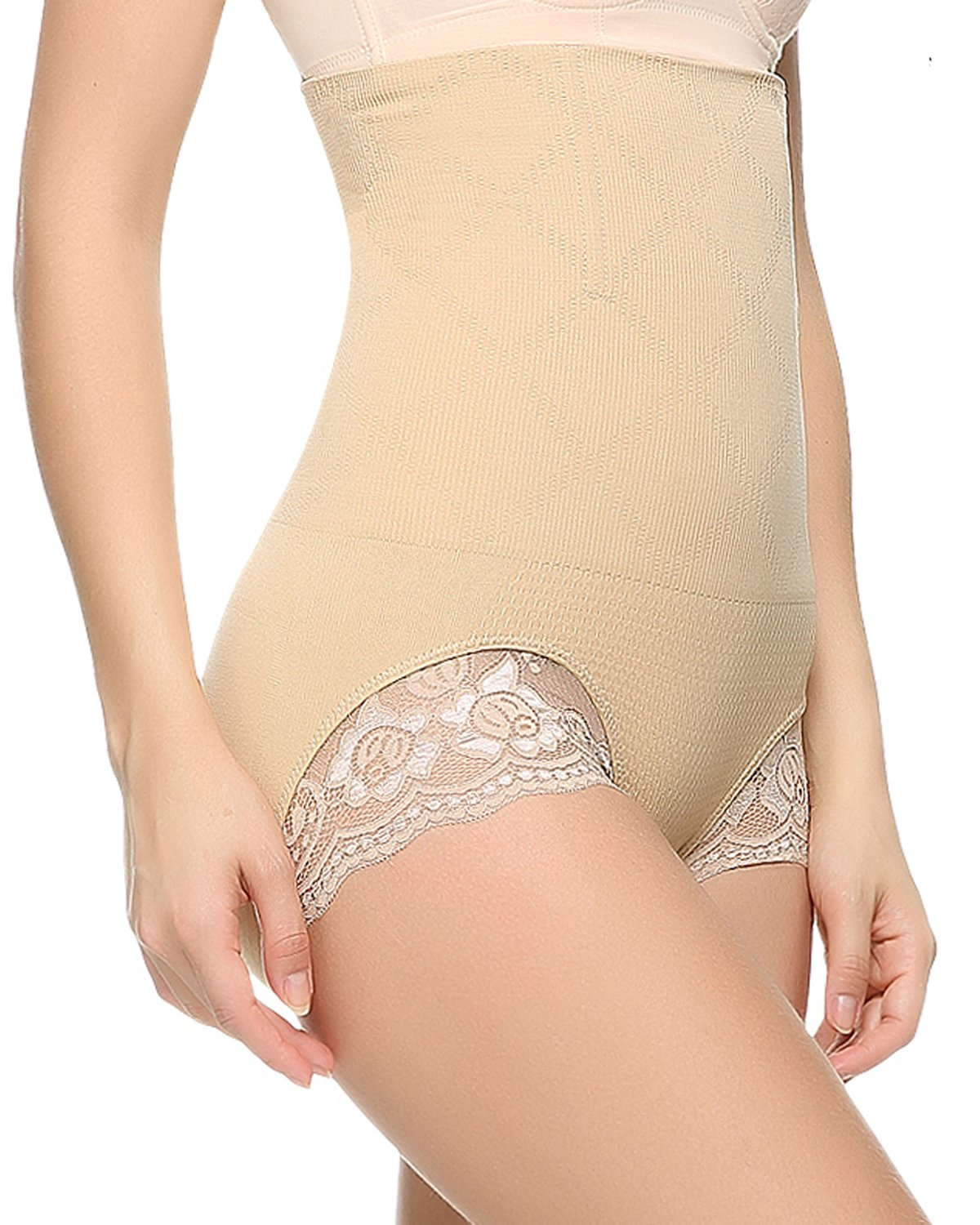 Junlan Cardio Body Shaper High Waist Tummy Control Butt Lifter Panty Slim J-12007-B-XL-UK-GG79