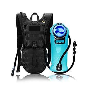 Amazon.com : Leak Proof Hydration Pack with 2L Water Bladder ...