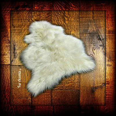 Bohemian Shag Rug - Faux Fur Sheepskin - Designer Carpet (2'x4')