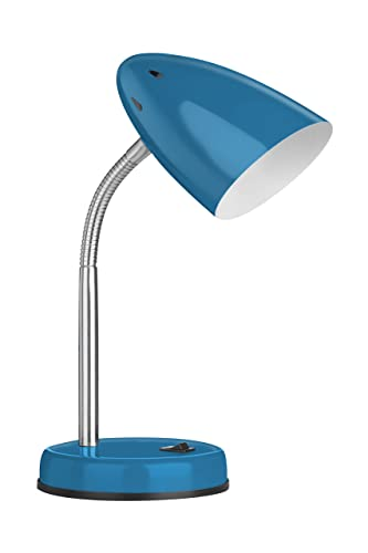 Premier Housewares Luma Flexi Desk Lamp   Blue
