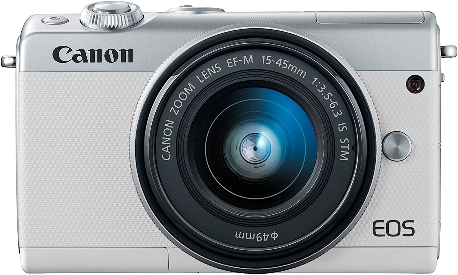 Canon EOS M100 Mirrorless Camera w/ 15-45mm Lens - Wi-Fi, Bluetooth, and NFC Enabled (White)