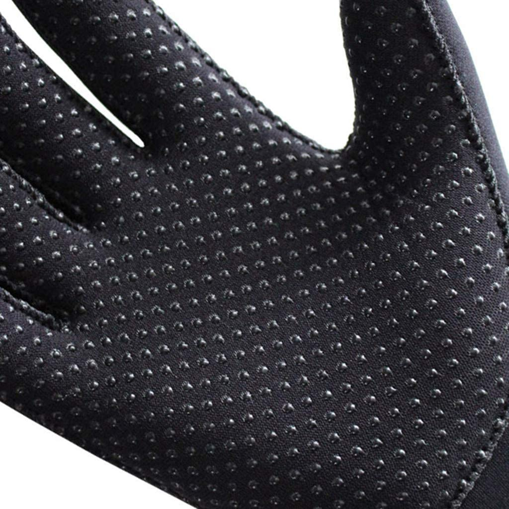 Yliquor 3MM Neoprene Cold-Proof Wetsuit Anti-Slip Gloves Wetsuits Five Finger Gloves for Diving Snorkeling Kayaking Surfing and Other Water Sports