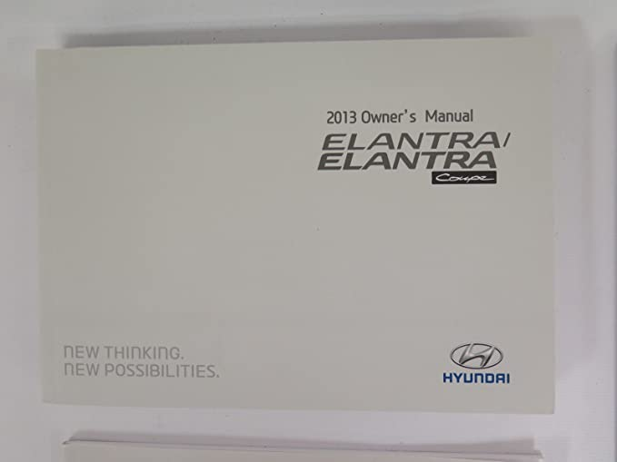 Amazon.com: 2013 Hyundai Elantra GT Owners Manual Guide Book: Hyundai Motor  America: Automotive