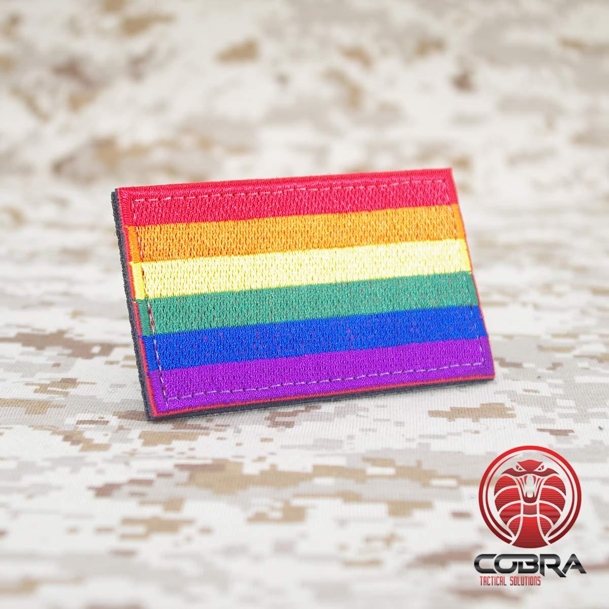 Cobra Tactical Solutions Military Patch Gay Pride LBGTQ Rainbow Flagge mit Klettverschluss f/ür Airsoft//Paintball f/ür Taktische Kleidung//Rucksack