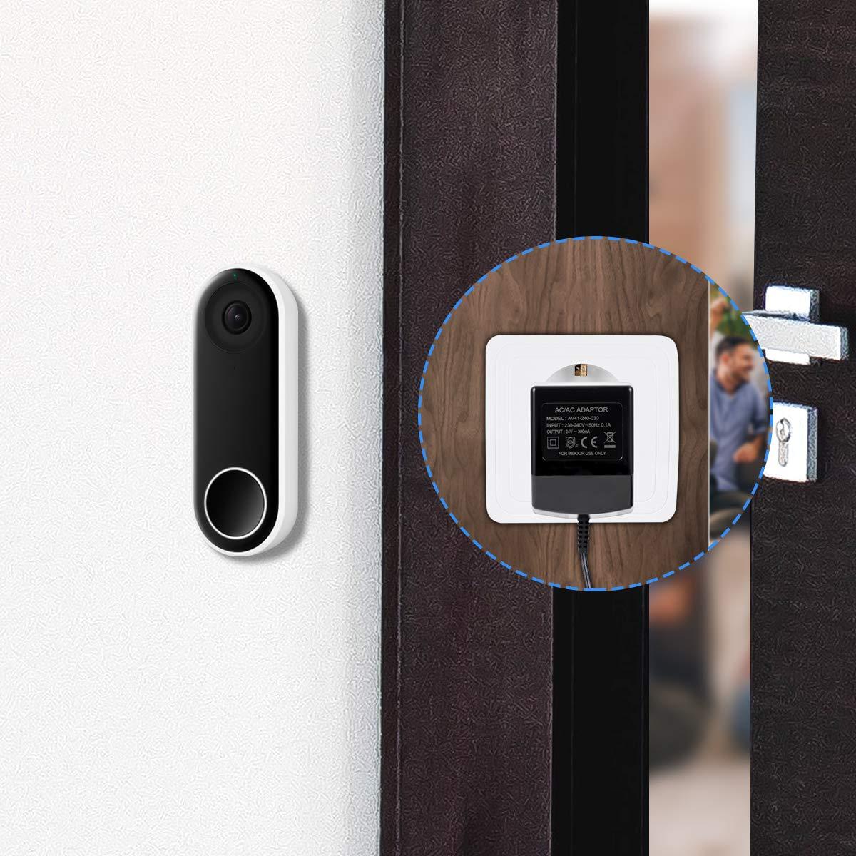 Alimentatore AC,LANMU AC 24V Alimentatore per Honeywell WiFi Termostato/Ring Video Doorbell/Ring Video Doorbell 2/Nest Hello ecc. Prodotti per la costruzione