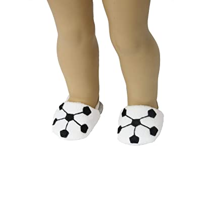 "Soccer Ball Slippers |Fits 18"" American Girl Dolls, Madame Alexander, Our Generation, etc. 
