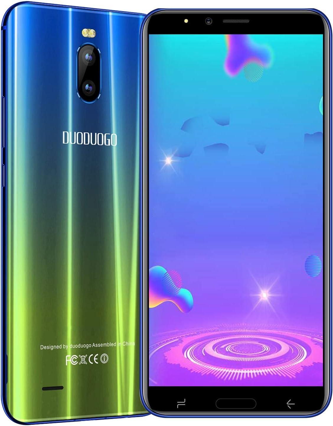 Moviles Libres 4G,6.0 Pulgadas 3GB RAM+16GB ROM/(128GB MAX Expansion),4800mAh Bateria,8MP Camara,Face ID,Dual Sim,Android 7.0 Smartphone Libres DUODUOGO J6+ (Azul): Amazon.es: Electrónica