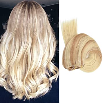 Amazon Com 16 Short Hair Extensions 120grams Blonde Ombre Clip In