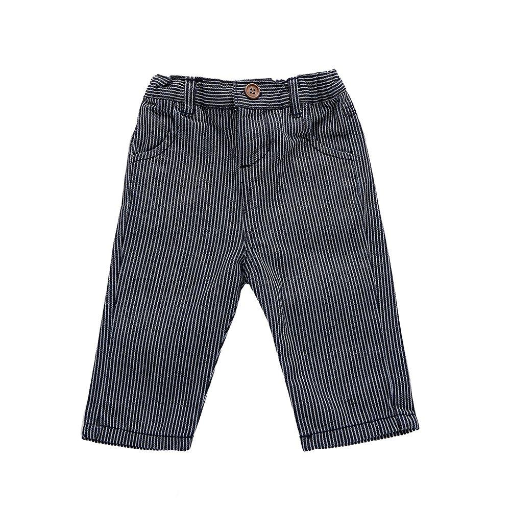 SUNDAYROSE Baby Boys Stripes Trousers Adjustable Waist Cotton Casual Pants NDK02