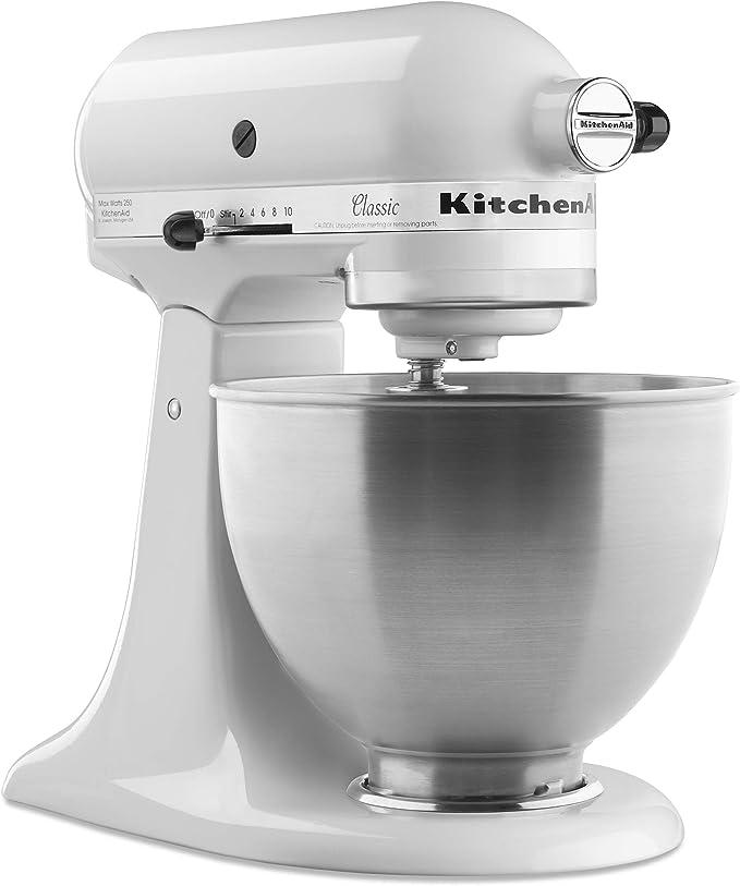 KitchenAid K45SS - Batidora amasadora, 300 W, color blanco: Amazon ...