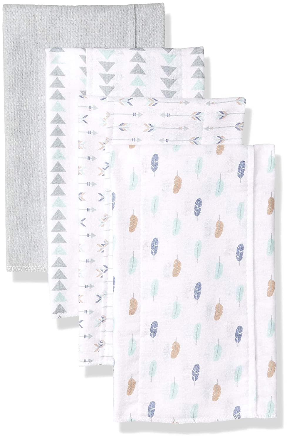 Luvable Friends unisex-baby Layered Flannel Burp Cloth Bird 4Pk One Size 01742