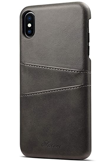 pretty nice 72d86 3c956 iPhone XS Max Wallet Case Slim Leather Back Protective Cover With Credit  Card Holder for iPhone XS Max 6.5inch