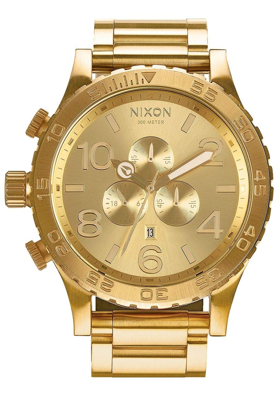 NIXON 51-30 Chrono A091 - All Gold - 308M Water Resistant Men's Analog Fashion Watch (51mm Watch Face, 25mm Stainless Steel Band) by NIXON