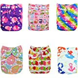 Alva Baby Reuseable Washable Pocket Cloth 6 diapers + 12 inserts (Girl Color)6DM18