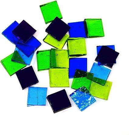 90 COE Fuseworks Cool Colors Squares 18 Piece Assortment