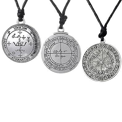 Buy Segolike 3 Pieces Amulet Norse Viking Odins Symbol Of Odin