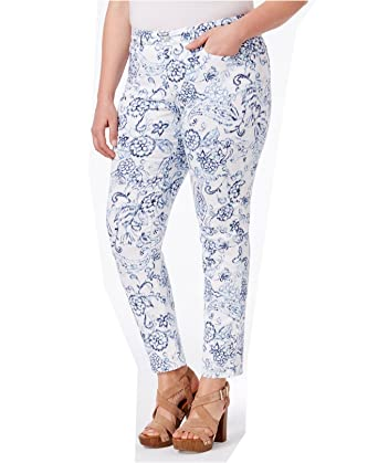 85003ab8f37fa Charter Club Womens Plus Bristol Floral Print Skinny Jeans White 24W at  Amazon Women s Clothing store