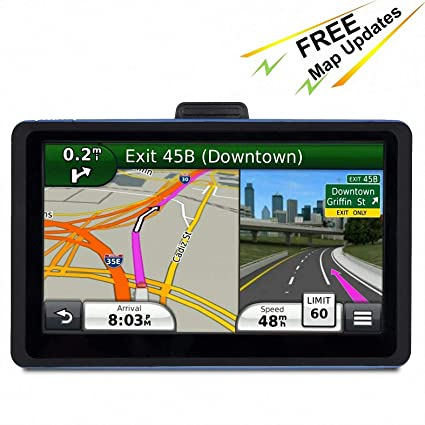 Amazon.com: GPS Navigation for Car, 7 inches 8GB Lifetime Map Update on