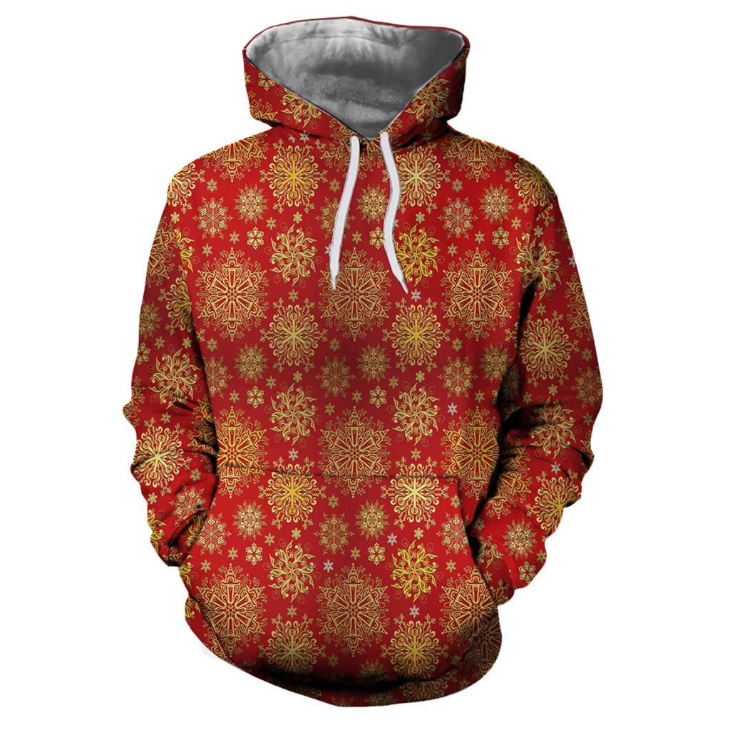 TAGGMY Christmas Clothes for Men Women Red Lovers Plus Size Casual Xmas Printing Long Sleeve Hoodies Sweatshirt XXXL