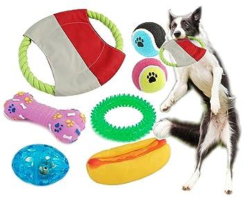 BPS® Pack de Juguetes para Perro, 7 Pcs Juguete Mascotas para Perros Animales Domésticos
