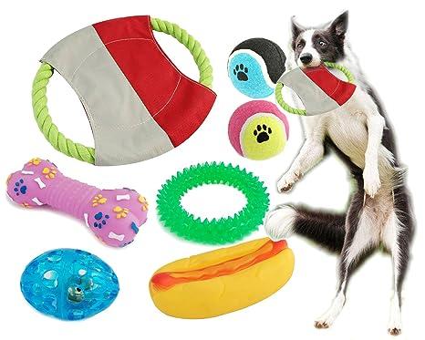 BPS® Pack de Juguetes para Perro, 7 Pcs Juguete Mascotas para Perros Animales Domésticos Colores se envian al azar (Al Azar Modelo 1) BPS-1358*1: Amazon.es: ...
