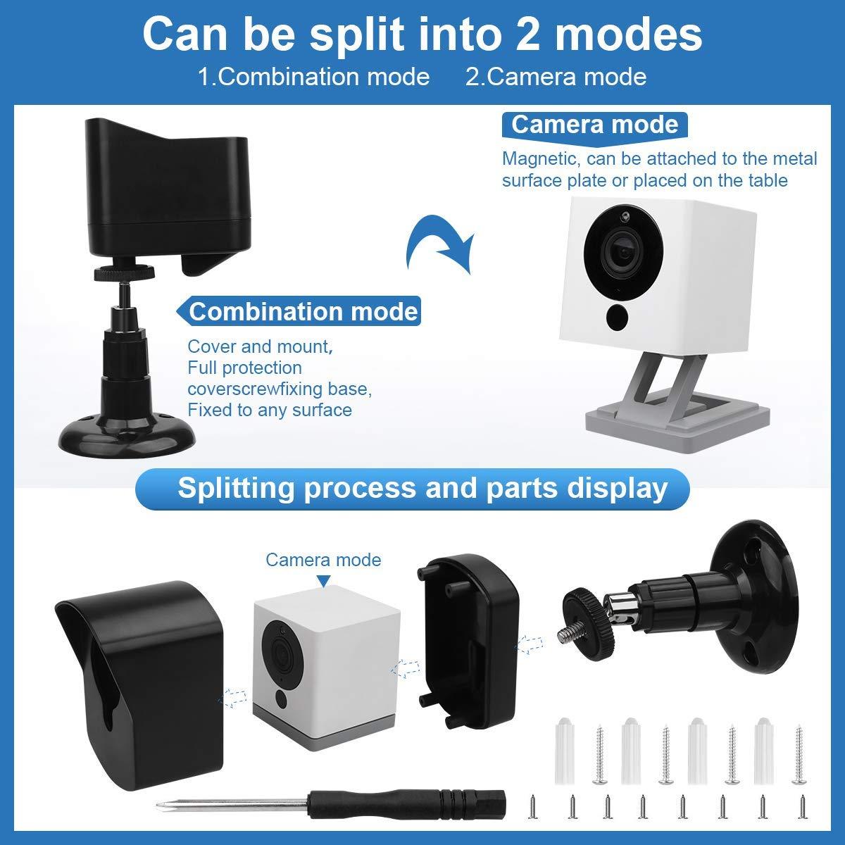 wetterfest schwarz 360 Grad verstellbar Wandhalterung f/ür Neos SmartCam Schutzhalterung mit Schutzh/ülle f/ür Wyze Cam V2 // Neos SmartCam f/ür Innen- und Au/ßenbereich