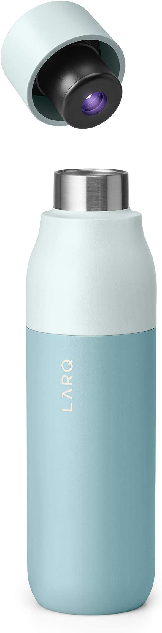 Amazon.com : LARQ Insulated Self-Cleaning and Stainless Steel Water Bottle With UV Water Sanitizer, 17oz, Seaside Mint : Sports & Outdoors