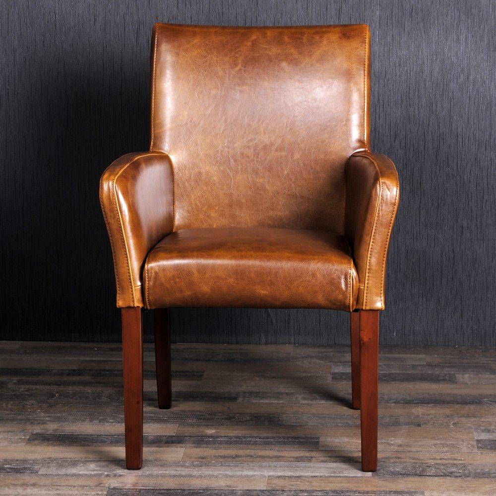 Edler Home Cognac Vintage Sessel Amazonde Kche U Haushalt With Stuhl Cognac
