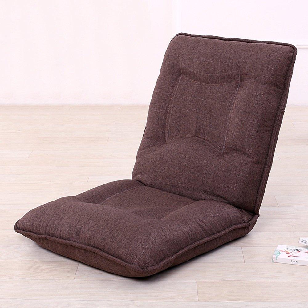 QFFL 厚手調節可能な実用的な折りたたみ椅子/バルコニーカジュアルな背もたれの椅子/オフィスシエスタシンプルな床の椅子(8色オプション) アウトドアスツール (色 : E) B07F354CM6 E E