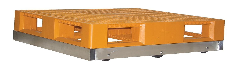 Vestil DOL-3636-6NT Pallet Dolly 3-3//4 x 36 x 36 4,000 lb Aluminum Capacity
