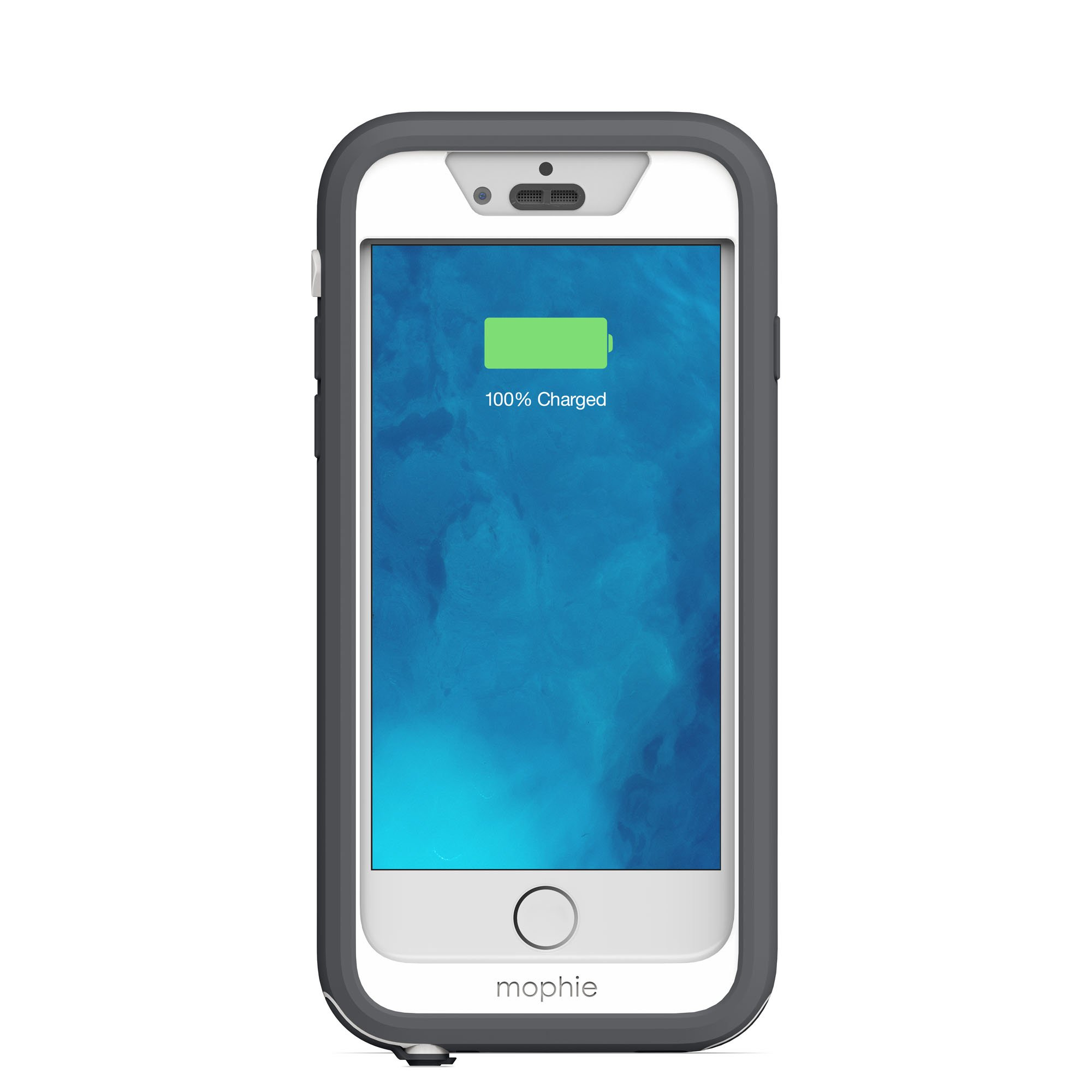 mophie juice pack H2PRO - Waterproof Mobile Protective Battery Pack Case for iPhone 6/6s - White by mophie (Image #5)