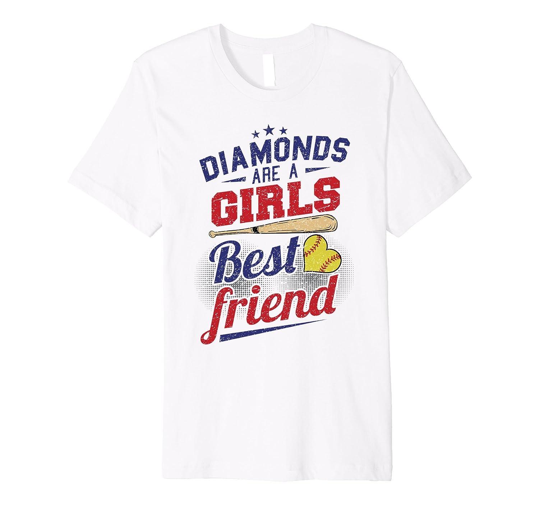 Softball Diamonds are a girls best friend Team Shirt