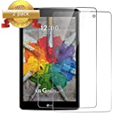 SYNTAK [2-Pack]LG G PAD X 8.0 Screen Protector,Ultra Clear 0.3mm 9H Hardness Anti-Scratch Tempered Glass Screen Protector for LG G Pad X 8.0 V521/G Pad III 8.0 V525 8-Inch Tablet