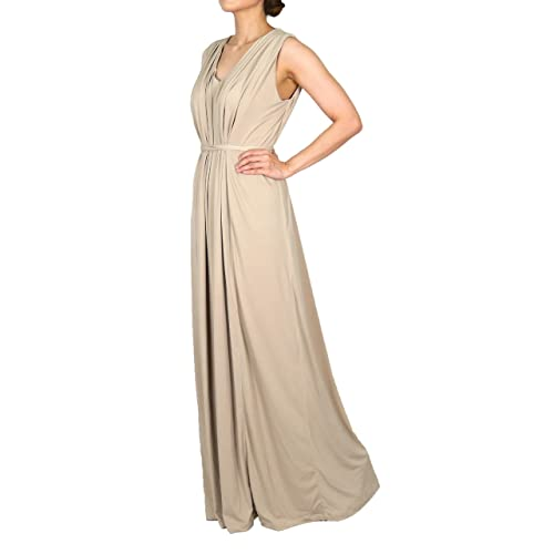 long formal dresses for women party wedding cocktail dinner maxi plus size dress beige nude