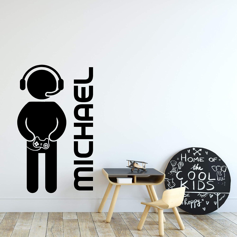 Gamer console computer games teen room home decor sticker vinyl decal wall art 389