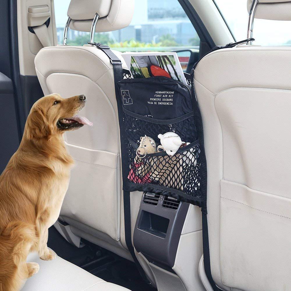 Organisator-Ladung-Netz-Haken-Beutel-Halter OKBY Auto-Organisator Autositz-Speicher-Masche Size : 32x25CM