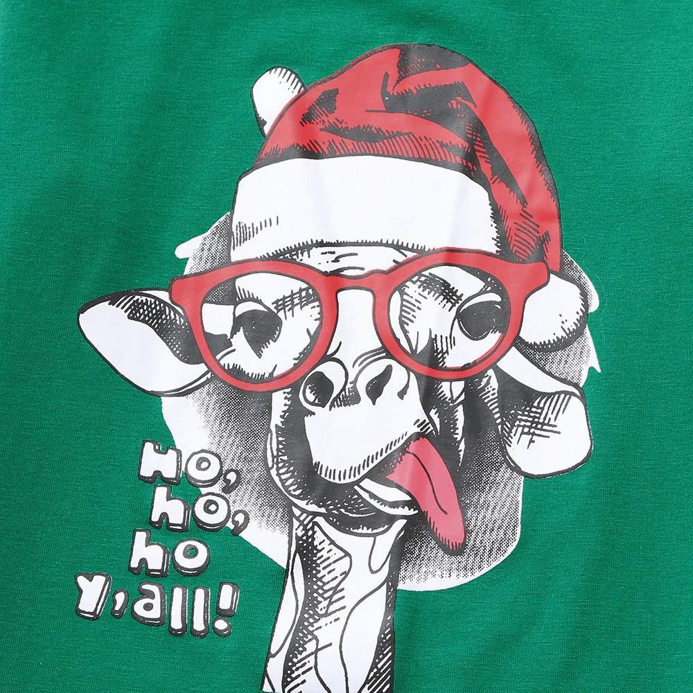 HALILUYA Famiglia Pigiami Natale Due Pezzi Pigiama Uomo Pigiama Donna Pigiama Bambina Natale Abiti Set Babbo Claus Stampato Lungo Seelve Camicetta Lungo Pantaloni Famiglia Pigiama da Notte