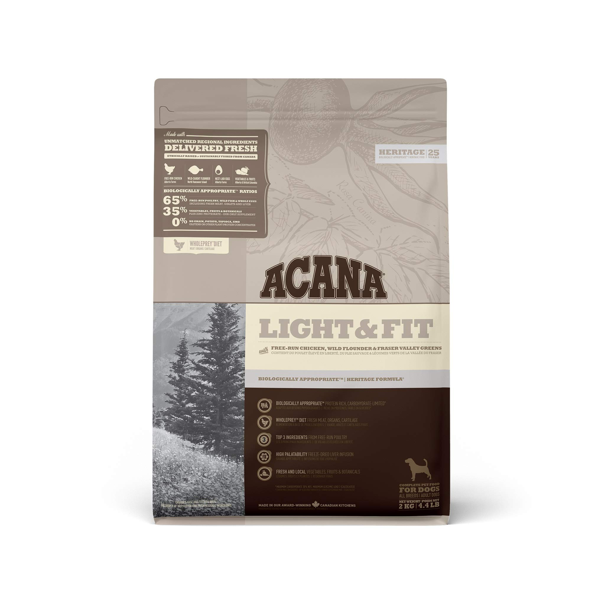 Acana Light and Fit Dog Food, 2 kg